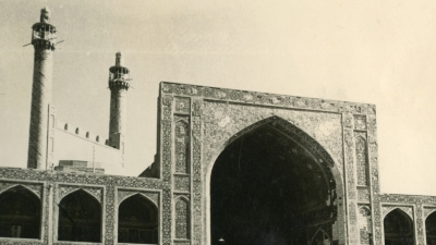 The mosque in Meshed, Persia (now Iran) – one of several stages of the journey from USSR to India, 1942, private archives